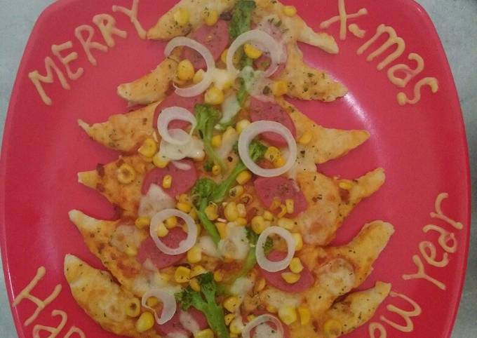 Easiest Way to Cook Yummy Christmas Tree Pizza