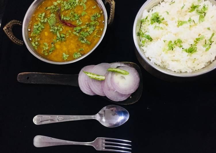 Raw Mango Dal with Rice