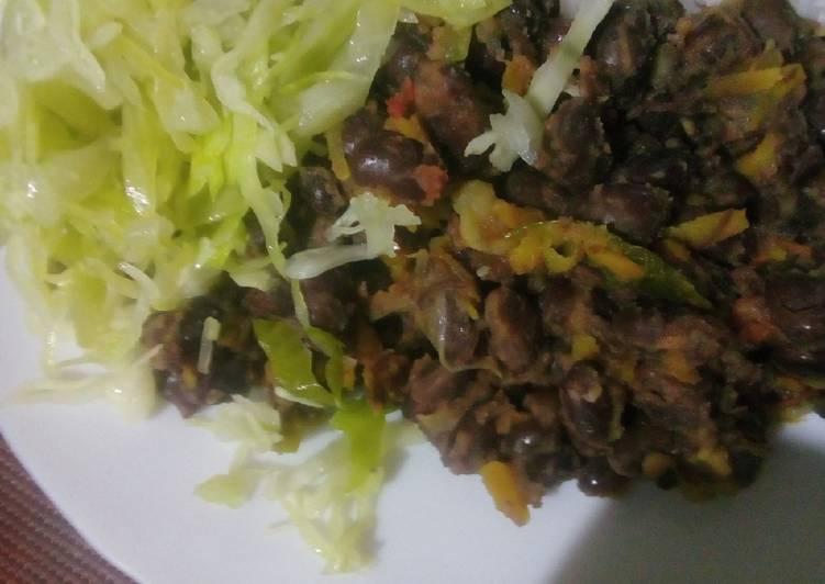 Simple Way to Make Quick Fried njahi or black beans