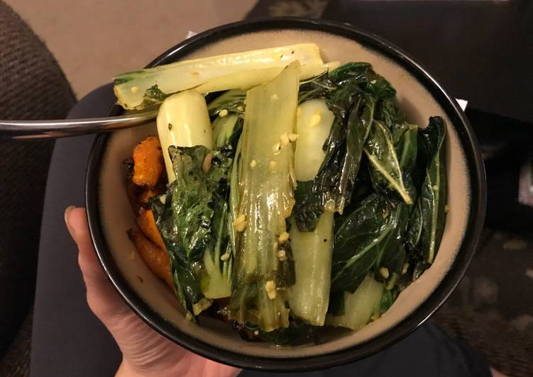Bok choy & carrots with wild rice