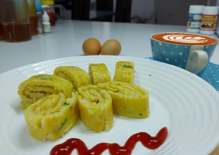 Tamagoyaki Nasi (Telur Dadar Nasi)