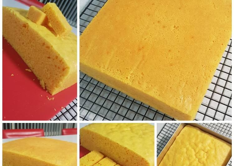 Steamed Navel Orange Cake