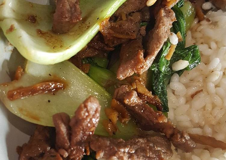 Beef with Pak Choi and Ginger