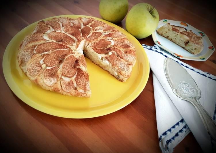 Torta di mele senza zucchero e uova