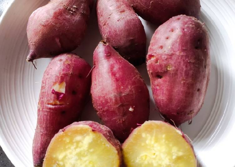 Recipe of Super Quick Homemade Steam Yellow Sweet Potato