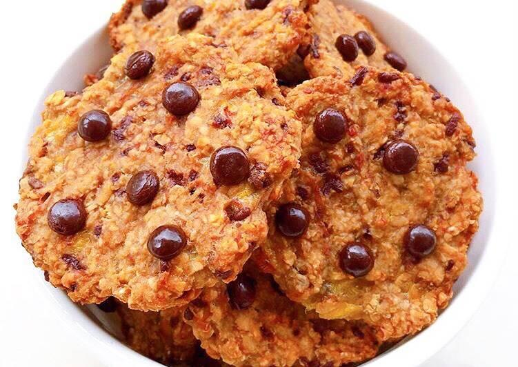 Banana Oat Choco Cookies