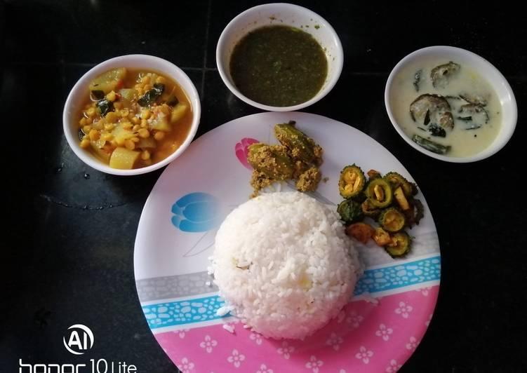 Bengali healthy thali
