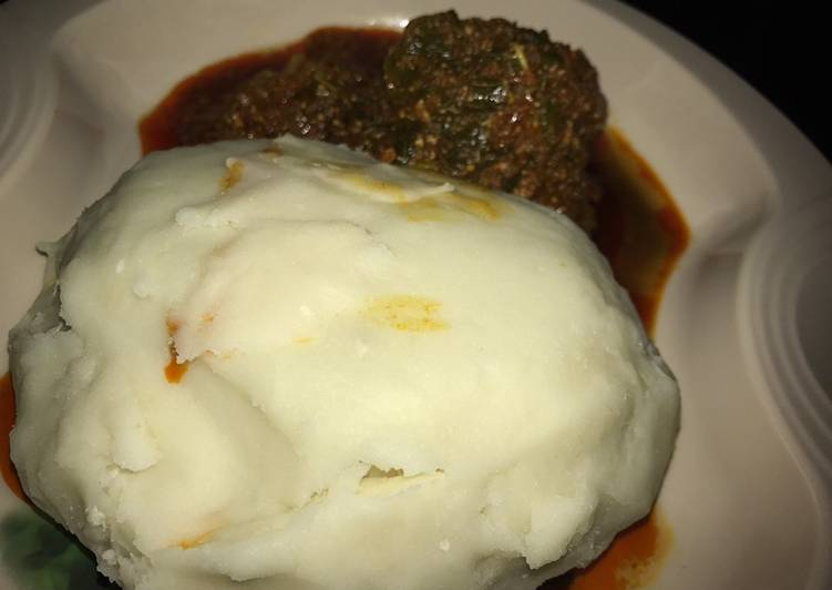 Step-by-Step Guide to Make Quick Pounded yam and egusi soup