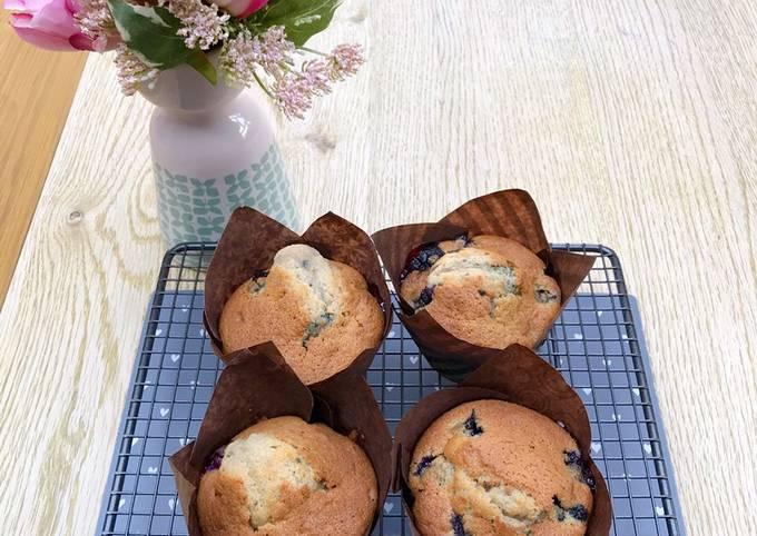 Recipe: Perfect Simple blueberry muffin (Starbucks type)