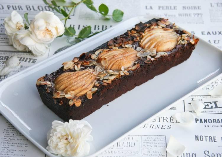 Recette Savoureux Fondant au chocolat à la poire