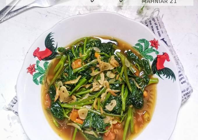 tumis kangkung rebon - resepenakbgt.com