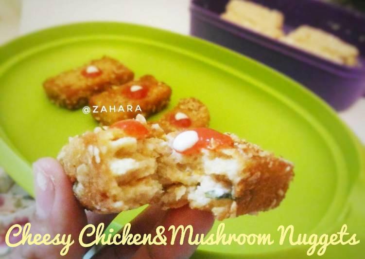Cheesy Chicken&Mushroom Nuggets