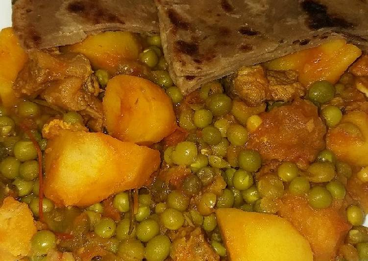 What is Dinner Ideas Quick Beef stew with potatoes and green peas