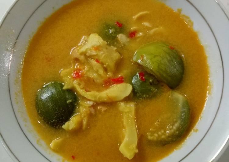 Resep Durian Mengkal Kuah Kuning Oleh Dhiah Arum Lestari Cookpad