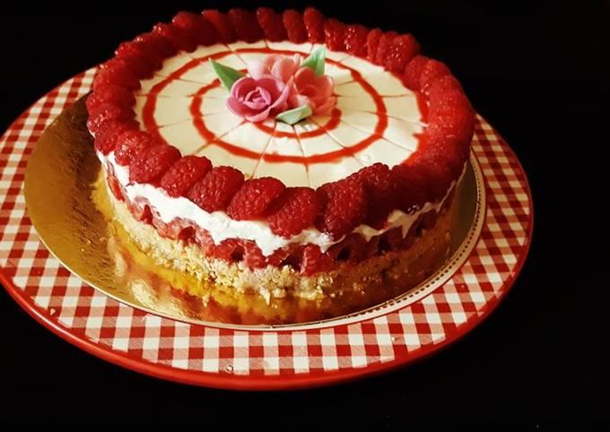 Cheesecakes sans cuisson aux framboises