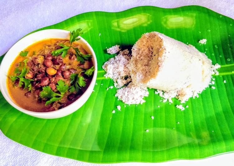 Simple Way to Make Favorite Kerala Rice Puttu With Kadala Curry