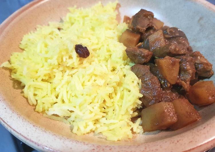 Easiest Way to Make Top-Rated Saffron Rice with Biryani Beef