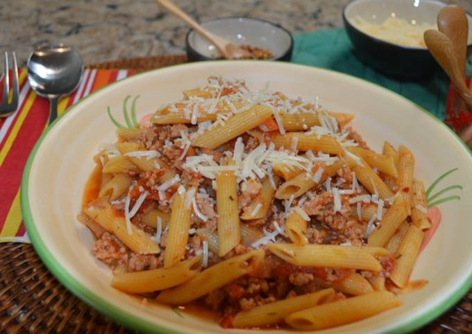 Instant Pot Penne Pasta with Meat Sauce
