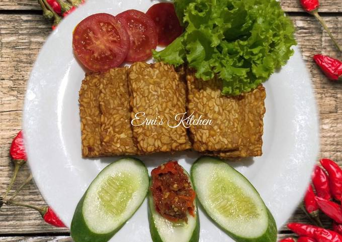 tempe goreng sambal trasi - resepenakbgt.com