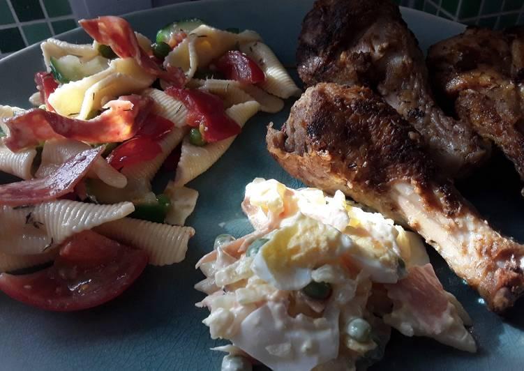 Recipe of Homemade Sig's Mediterranean inspired Pasta Salad