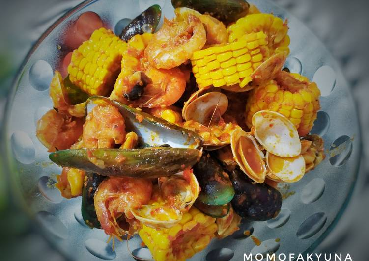 Seafood campur2 saus padang
