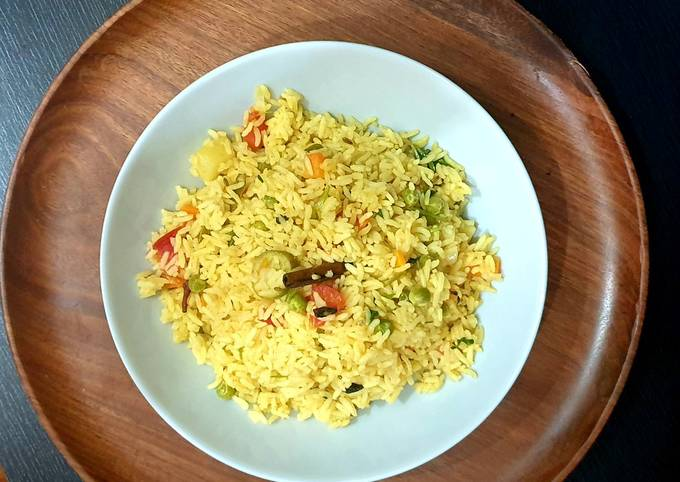 Vegetable Pulao - quick & easy