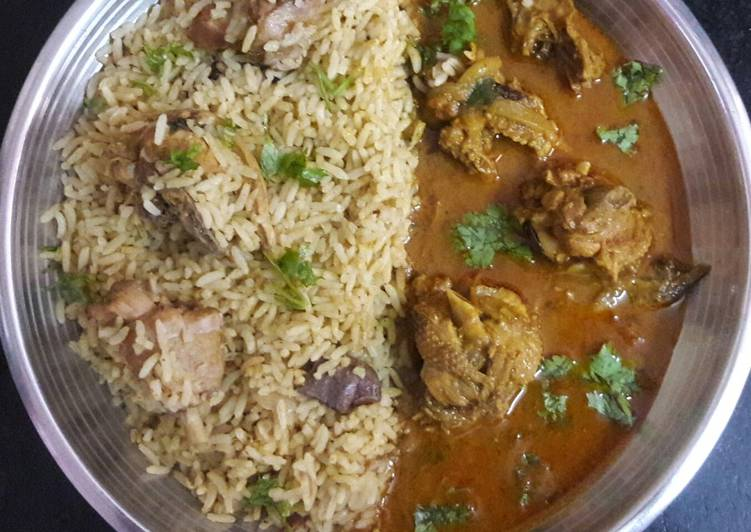 South Indian Style Country Chicken Briyani