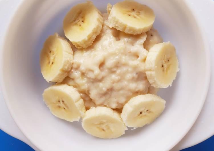 Milky Banana Oatmeal - Mpasi 1 tahun