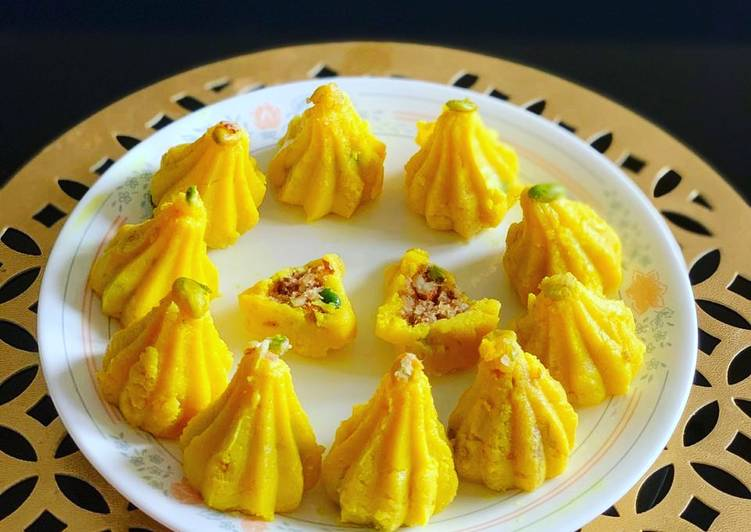 Recipe of Perfect Modak stuffed with dates and dryfruits