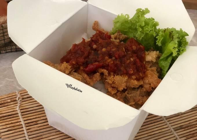 330. Ayam Geprek Box, Sambel simpel