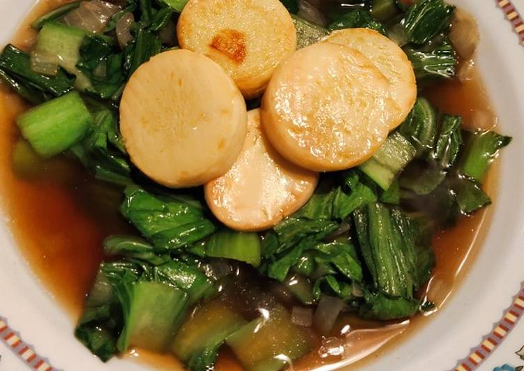 Tumis Bok Choy dan Tahu Telur