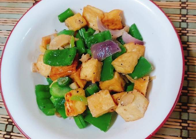 Recipe of Any-night-of-the-week Tofu Stir-Fry with Bell Peppers