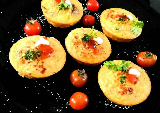 Recipe: Delicious Corn and otts savory muffins