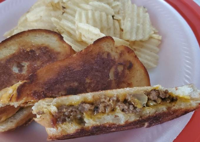Tutorial Of Taco Style Patty Melt Without Equal