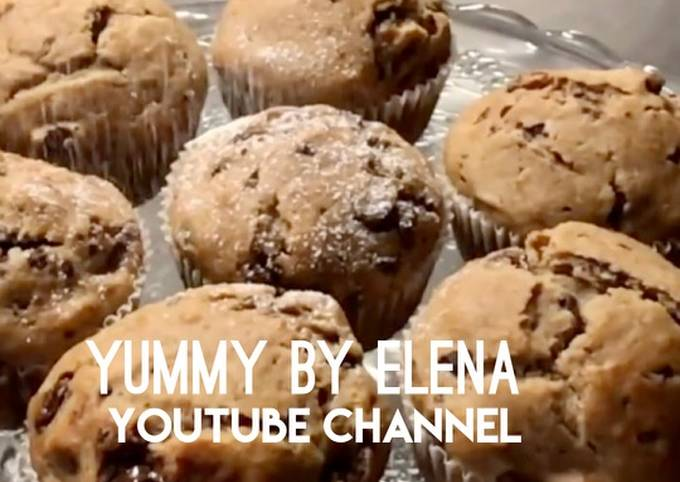 Amazing and Healthy Banana Chocolate Muffins l Easy Breakfast l Recipe for Any Occasion