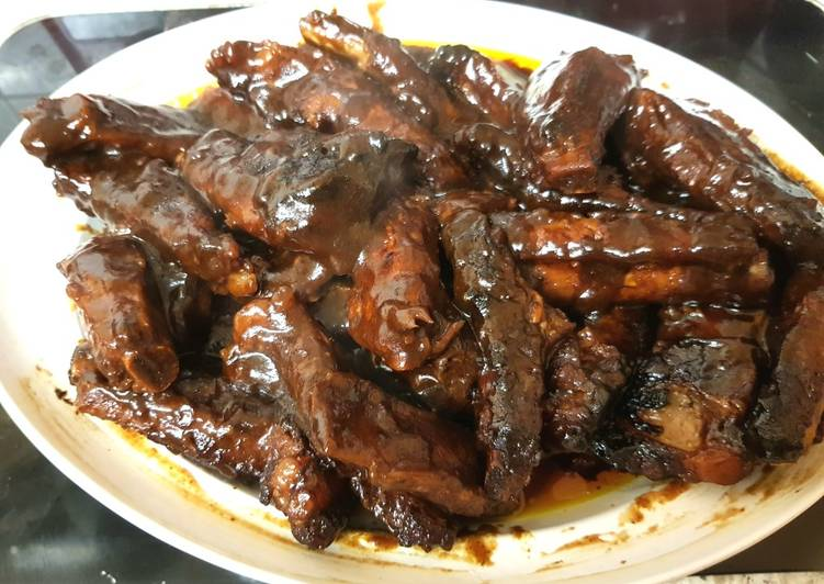 My Lovely Spicy Rib sauce mixed with Smoked BBQ Sauce
