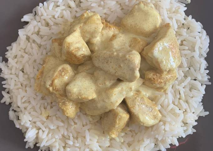 Poulet curry/coco