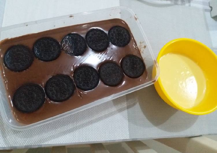 Puding coklat with vla