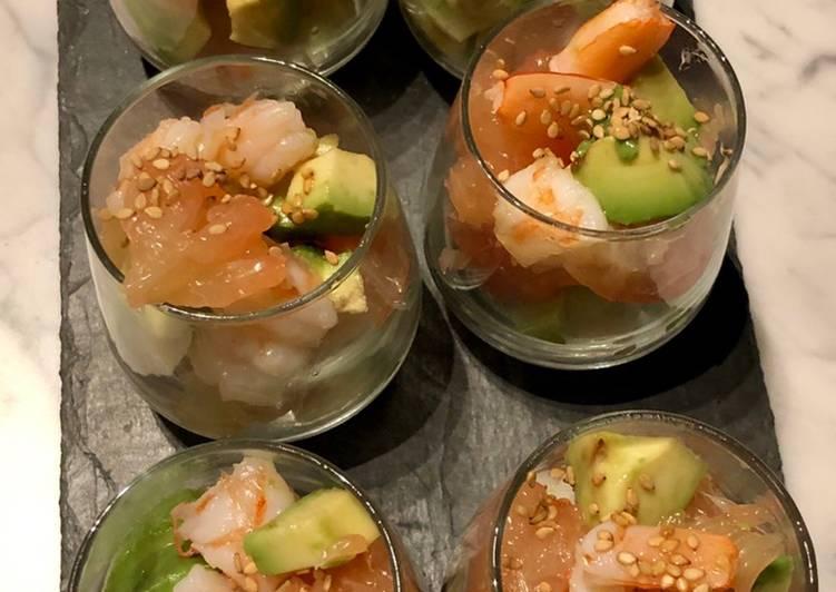 How to Make Tasty Verrines de crevettes, pamplemousses et avocat