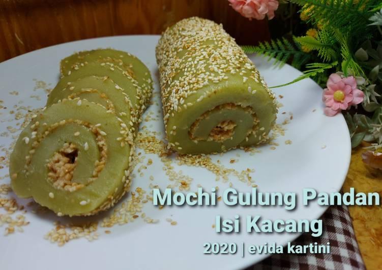 Mochi Gulung Pandan isi Kacang - cookandrecipe.com