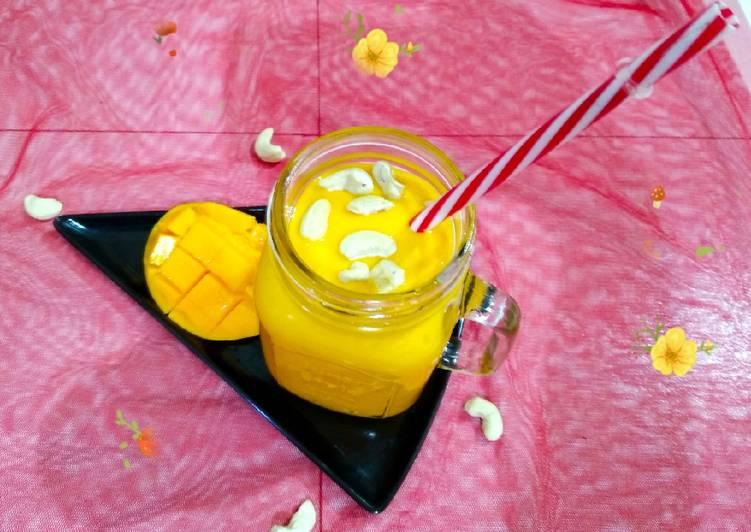 Mango cashew milk shake