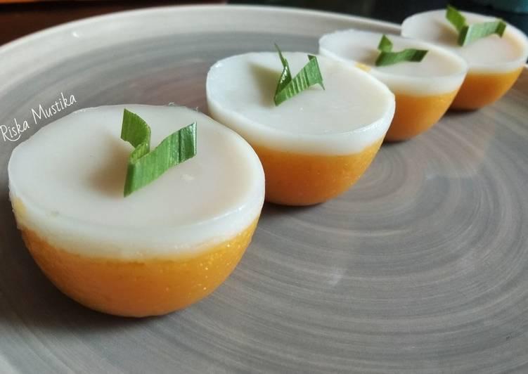 Recipe: Delicious Kue Talam Ubi Kuning aka Sweet Potato Cake