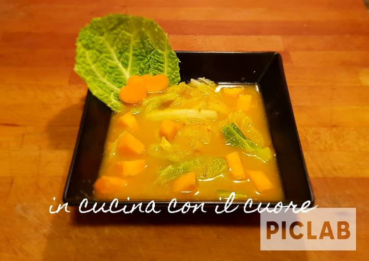 Ricetta Zuppa di verza e zucca