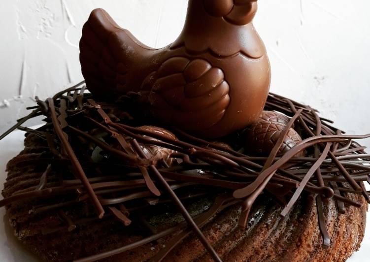 Recette Des ☆Gâteau Mousse au Caramel Beurre Salé de Pâques☆