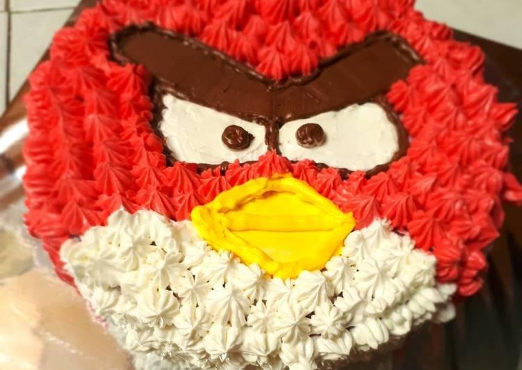 Resep Kue tart angry bird pemula Terbaik