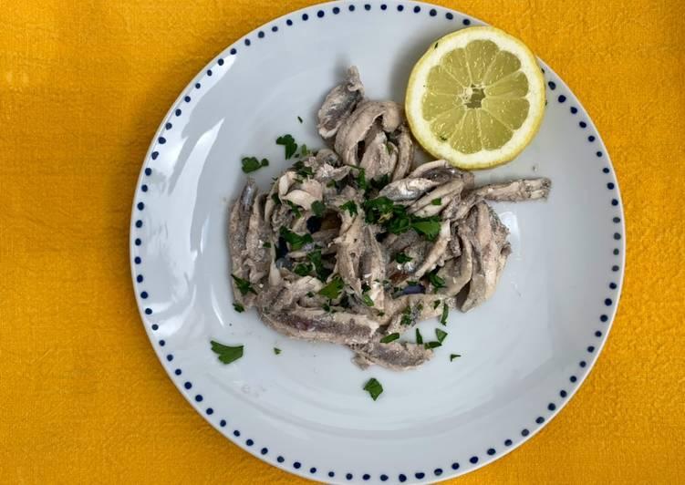 Ricetta Alici in padella al limone 🍋