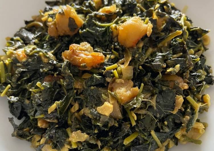 Simple Way to Make Speedy Spinach with small prawn