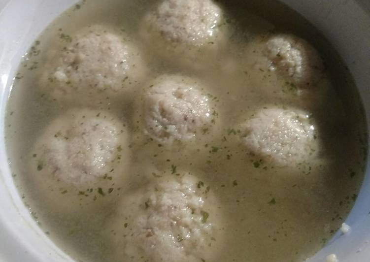 Crock-Pot Matzo Ball Soup (from a box)