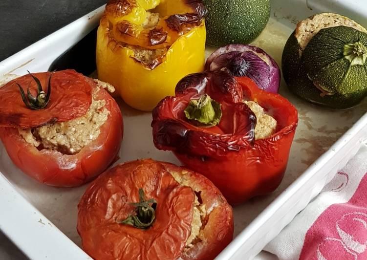Légumes farcis à la feta et à la viande hachée