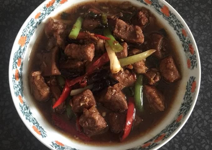 Sweet spicy stew pork
